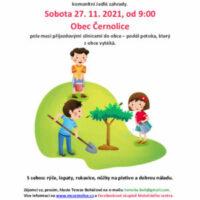 V sobotu 27. 11. 2021 sázíme stromy
